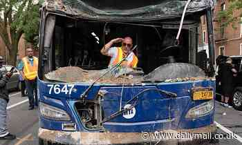 MTA bus removed from Brooklyn brownstone five days after crash