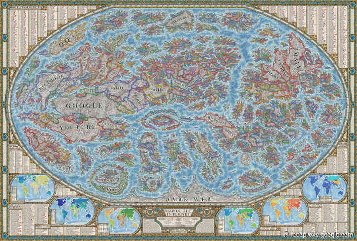A Beautiful, High-Resolution Map of the Internet (2021)