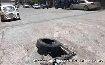 Sin repararse boquete de la colonia Cerro de la Cruz - El Heraldo de Chihuahua