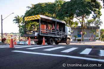 Jardim Alegre revitaliza pintura da sinalização das ruas - TNOnline - TNOnline