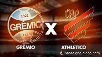 Grêmio e Athletico se enfrentam em Porto Alegre, domingo (13); jogo tem transmissão na programação da RPC - Gshow