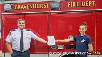 Volunteer Gravenhurst firefighter awarded for off-duty heroics - My Muskoka Now