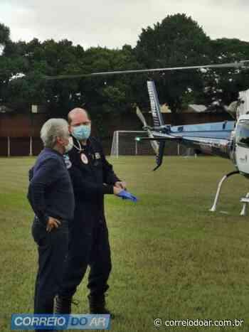 Helicóptero do CONSAMU faz transferência de paciente em Palotina - Correio do Ar