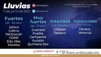 Continuarán las lluvias en Tlaxcala este fin de semana | e-consulta.com Tlaxcala2021 - e-Tlaxcala Periódico Digital de Tlaxcala