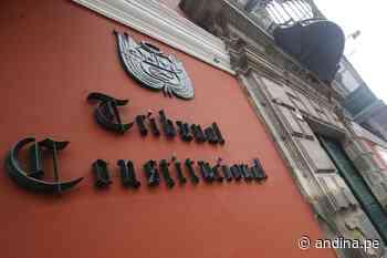 Colegio de Abogados de Ayacucho presenta demanda al TC por cuarta legislatura - Agencia Andina