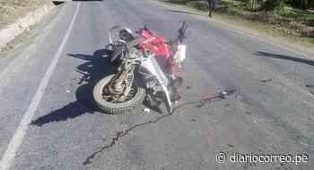 Dos personas resultaron heridos tras choque frontal entre auto y motocicleta - Diario Correo