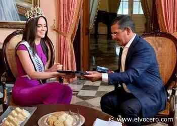Miss Puerto Rico Estefania Soto visita a Pierluisi en La Fortaleza - El Vocero de Puerto Rico