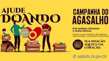 Drive-thru da Campanha do Agasalho ocorrerá em Santana do Livramento no sábado (12) - Governo do Estado do RS