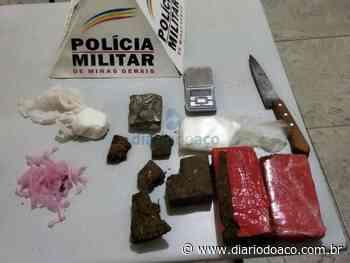 Trio em cana por tráfico de drogas no Industrial, em Santana do Paraíso - Jornal Diário do Aço