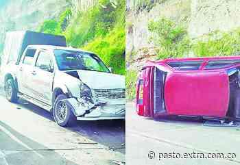 En vía Ipiales-Potosí, colisionaron dos vehículos - Extra Pasto
