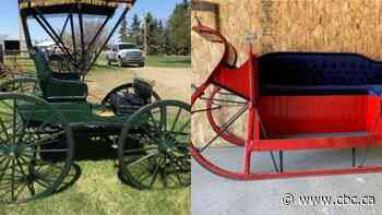 Alberta family auctioning off over 2 dozen carriages and sleighs