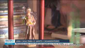 Moradores da zona rural de Feira de Santana se unem para construir capela em homenagem a Santo Antônio - G1