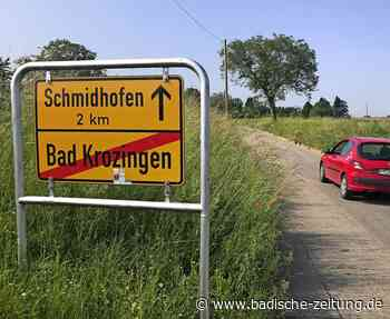 Radweg nach Schmidhofen wird gebaut - Bad Krozingen - Badische Zeitung
