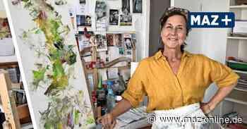 Kunst im Blumen-Café: Künstlerin Ulrike Gollnow stellt in Großbeeren aus - Märkische Allgemeine Zeitung
