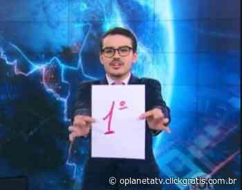 """Dudu Camargo comemora picos de liderança do """"Primeiro Impacto"""" - O Planeta TV"""