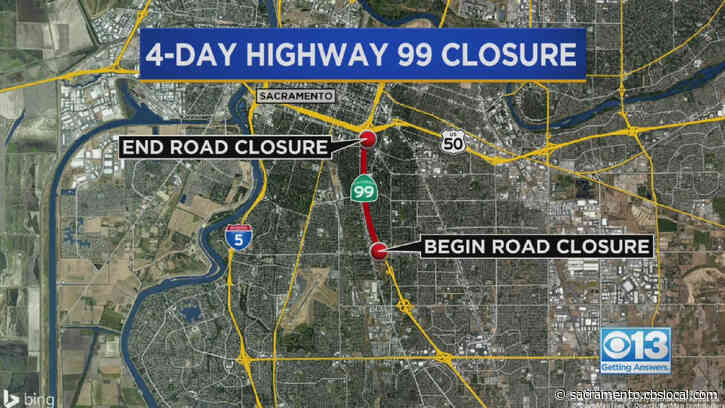 Sacramento Highway 99 Closure Now In Place: How To Get Around It