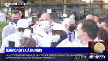 Jean Castex aux côtés des producteurs à Rungis ce mercredi matin - Actu Orange