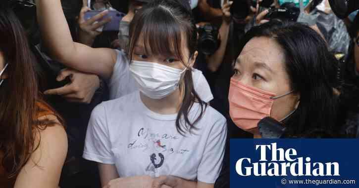 Agnes Chow: Hong Kong democracy activist leaves jail