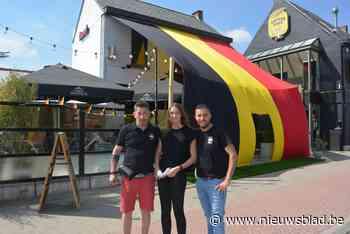 Marie-Louise werkt vier dagen aan reuzegrote vlag