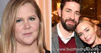 """John Krasinski Responded After Amy Schumer Said He And Emily Blunt Have A """"Pretend Marriage For Publicity"""" - BuzzFeed News"""