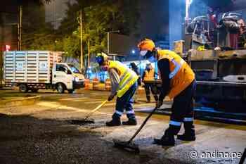 Municipalidad de Lima ejecuta labores de mantenimiento de pistas en Magdalena del Mar - Agencia Andina