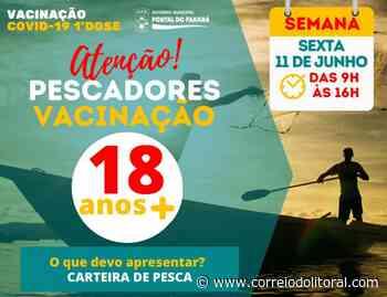 Pontal do Paraná vacina pescadores com 18 + – Correio do Litoral - Correio do Litoral