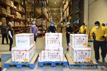 Arribó a Villa Mercedes otro cargamento de vacunas contra el Coronavirus - Agencia de Noticias San Luis