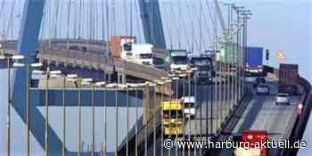 Ladung verrutscht: Lkw blockiert Köhlbrandbrücke und sorgt für Verkehr - Harburg aktuell