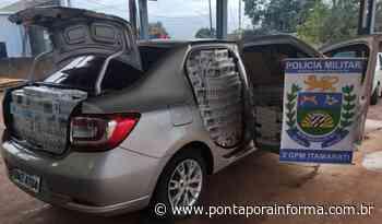 Ponta Porã: PM apreende carro carregado com 24.500 maços de cigarro contrabandeados - Ponta Porã Informa