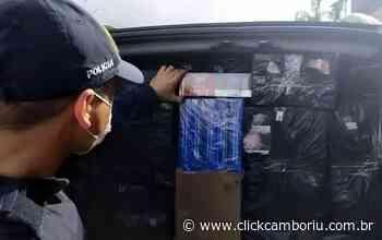 Furgão de BC carregado com cigarros contrabandeados é apreendido em Biguaçu - Click Camboriú