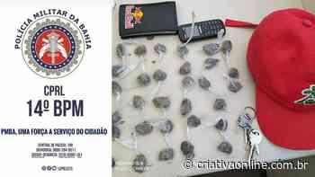 Homem é preso com drogas e celular em Santo Antonio de Jesus - Criativa On Line