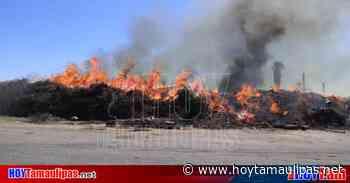 Habían retirado del lugar del incendio en Nuevo Laredo 90 camiones con residuos de la tormenta - Hoy Tamaulipas