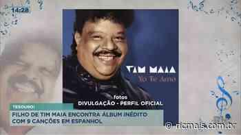 Filho de Tim Maia encontra álbum inédito com nove canções em espanhol - RIC Mais