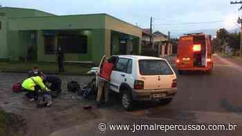 Colisão entre automóvel e motocicleta deixa uma pessoa ferida em Sapiranga - Jornal Repercussão