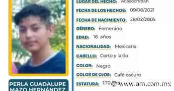 Desaparece Perla Guadalupe en Acaxochitlán - Periódico AM