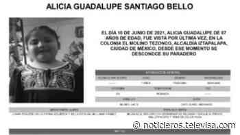 Activan Alerta Amber para localizar a Alicia Guadalupe Santiago Bello - Noticieros Televisa