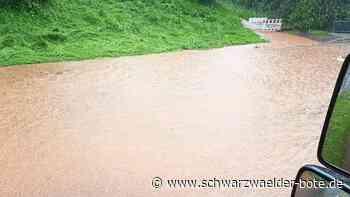 Feuerwehr im Einsatz - Starke Regenfälle lösen Hochwasser-Alarm in Waldachtal aus - Schwarzwälder Bote
