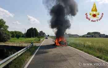 Auto in fiamme a Campogalliano Attualità - Voce di Carpi