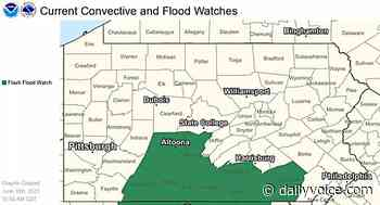 National Weather Service Issues Flood Watch For Central Pennsylvania - Daily Voice