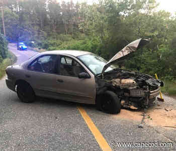 Driver escapes with minor injuries after car vs pole in Truro - CapeCod.com News