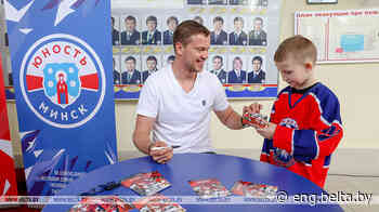 Gagarin Cup winner Andrei Stas brings trophy to Minsk The cup visited three arenas in the - Belarus News (BelTA)