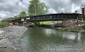 Machynlleth railway line closed for rest of month for bridge raising project