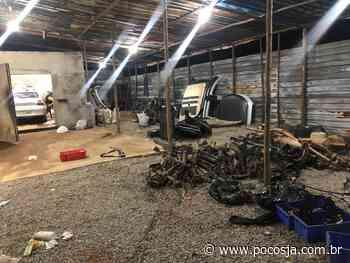 PM localiza desmanche de veículos em Santa Rita de Caldas - POÇOS JÁ