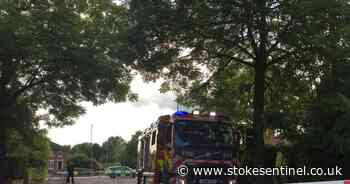 Police shut Stoke-on-Trent road after house fire - Stoke-on-Trent Live