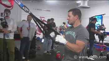 Actor Mark Wahlberg on hand for new gym opening on MCAS Miramar - CBS News 8