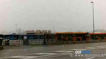 Nevicata del 19 marzo alla stazione Breccia-Grandate - QuiComo