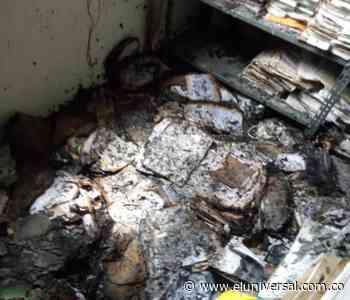 Incendio en la Secretaría de Gobierno de San Antonio de Palmito - El Universal - Colombia