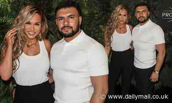 Vicky Pattison and beau Ercan Ramadan coordinate in monochrome ensembles at Cabaret All Stars