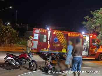 Motociclista fratura perna após colidir com carro na Av. Joaquim Gomes de Souza – TV Centro Oeste - Tv Centro Oeste
