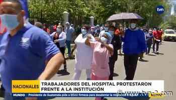 Administrativos del Hospital Santo Tomás protestaron - TVN Noticias